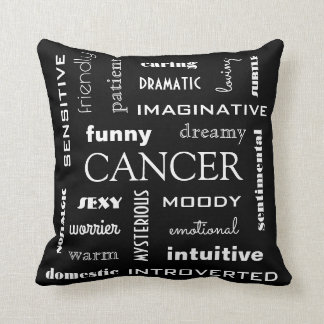 Cancer Astrological Throw Pillow