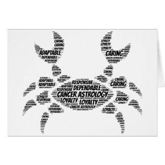 Cancer Astrology Zodiac Sign Word Cloud Greeting Card