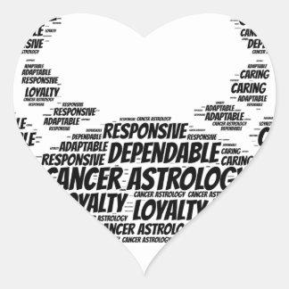 Cancer Astrology Zodiac Sign Word Cloud Heart Sticker