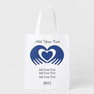 Cancer Awareness Grocery, Gift, Favor Bag - SRF Market Totes