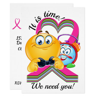 Cancer Awareness It Is Time Invitation
