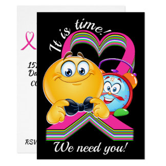 Cancer Awareness It Is Time Invitation #3