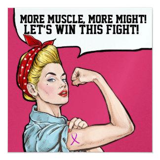 Cancer Awareness - Pink Ribbon Invitation