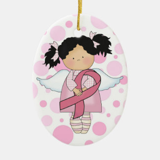Cancer Awareness Pink Ribbon  - SRF Ceramic Oval Ornament
