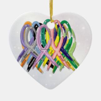 Cancer Awareness Ribbons Ornament
