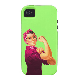 Cancer Awareness Rosie The Riveter iPhone4 Case