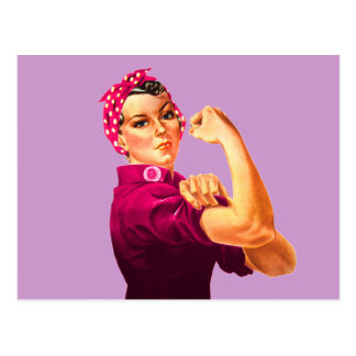 Cancer Awareness Rosie The Riveter Postcard