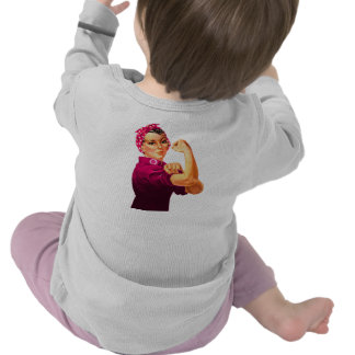 Cancer Awareness Rosie The Riveter T Shirts