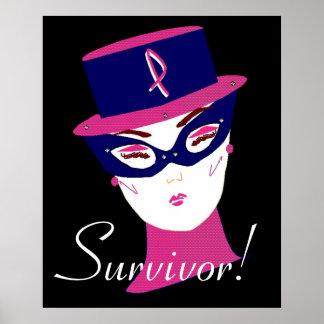 Cancer Awareness Think Pink Ribbon Survivor  II Posters