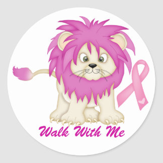 Cancer Awareness -Tracy's Lion by SRF Round Sticker