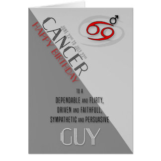 Cancer Birthday for Him June 22nd to July 22nd Card
