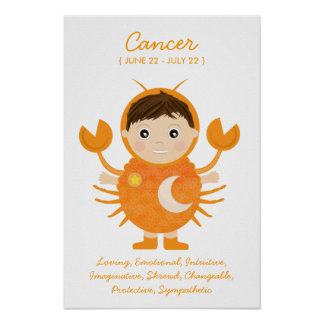 Cancer - Boy Horoscope Poster