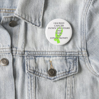 Cancer Bully (Lime Green Ribbon) 2 Inch Round Button