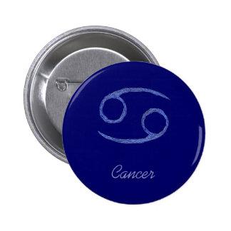 Cancer Cancerian Zodiac Astrological Sign Blue Button