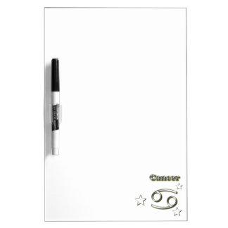 Cancer chrome symbol dry erase board