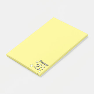 Cancer chrome symbol post-it notes