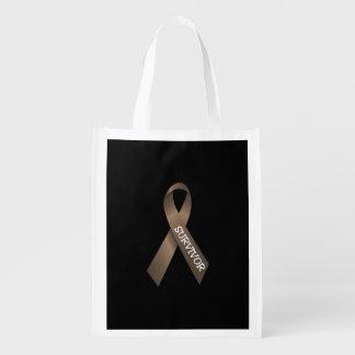 Cancer Colon Survivor Bag Reusable Grocery Bags