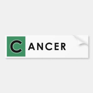 CANCER COLOR BUMPER STICKER