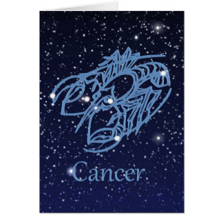 Cancer Constellation and Zodiac Sign with Stars Card