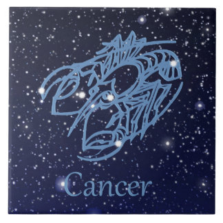 Cancer Constellation and Zodiac Sign with Stars Tiles