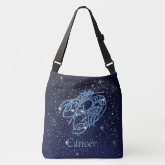 Cancer Constellation and Zodiac Sign with Stars Tote Bag