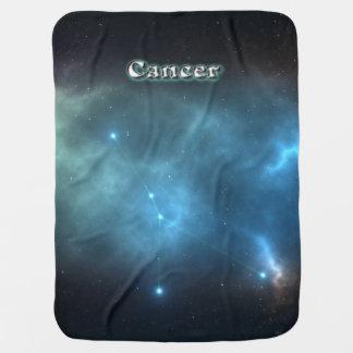 Cancer constellation baby blanket