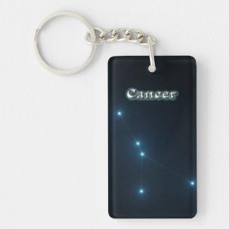 Cancer constellation Double-Sided rectangular acrylic keychain