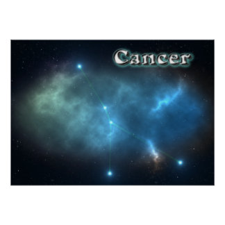 Cancer constellation poster