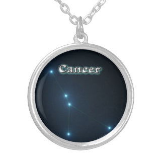 Cancer constellation silver plated necklace