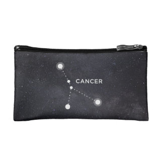 Cancer Constellation Zodiac Sign Cosmetic Bag