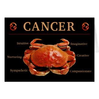 Cancer Crab Zodiac Card with Traits