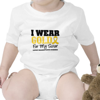 Cancer d enfance je porte la soeur de ruban d or t-shirts