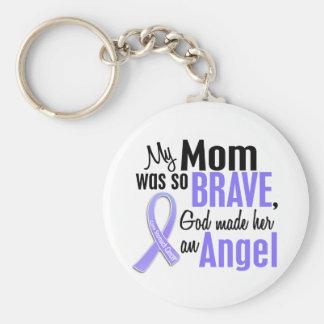 Cancer de l'estomac de maman de l'ange 1 porte-clé rond