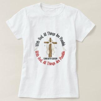 Cancer de l'os AVEC la CROIX 1 d'un DIEU T-shirts