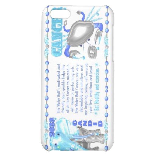 Cancer de taureau de l'eau de zodiaque de ValxArt  Étui iPhone 5C