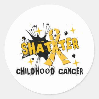 Cancer d'enfance d'éclat autocollant rond