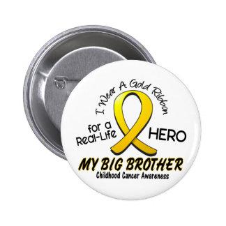 Cancer d'enfance je porte le ruban d'or pour mon f pin's avec agrafe