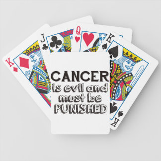 cancer design bicycle playing cards