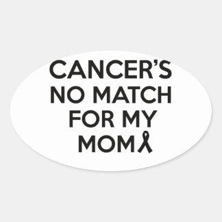 cancer design oval sticker