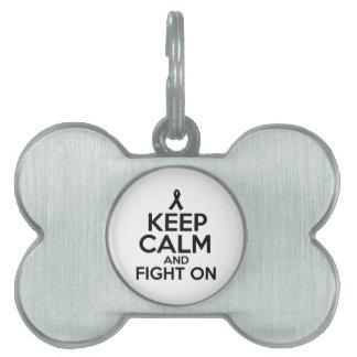 cancer design pet tag