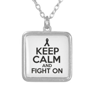 cancer design silver plated necklace