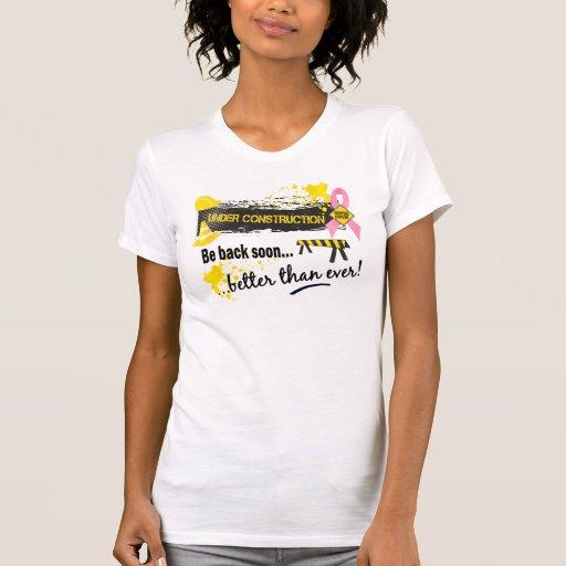 Cancer du sein en construction t-shirt