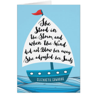 Cancer Encouragement, for Her, She Adjusted Sails Card
