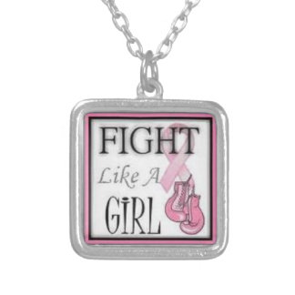 """CANCER """"FIGHT LIKE A GIRL"""" NECKLACE"""