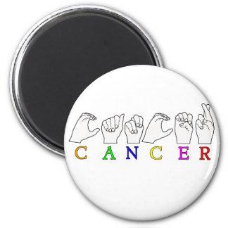 CANCER FINGERSPELLED ASL NAME ZODIAC SIGN MAGNET
