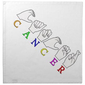 CANCER FINGERSPELLED ASL NAME ZODIAC SIGN NAPKIN