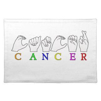 CANCER FINGERSPELLED ASL NAME ZODIAC SIGN PLACEMAT