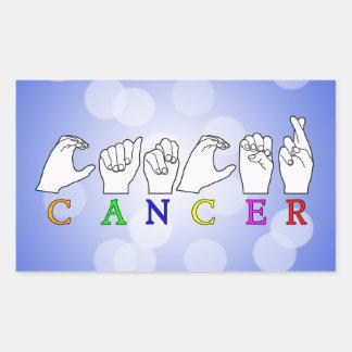 CANCER FINGERSPELLED ASL NAME ZODIAC SIGN STICKER