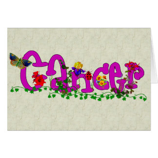Cancer Flowers Card