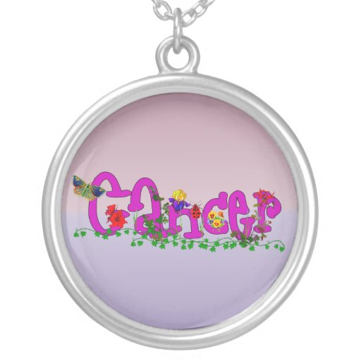 Cancer Flowers Necklace